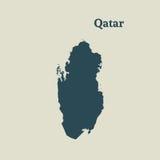 Контурная карта Катара иллюстрация Стоковая Фотография