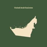 Контурная карта Объединенных эмиратов иллюстрация Стоковое Фото