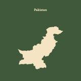 Контурная карта Пакистана иллюстрация Стоковые Фотографии RF