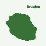 Контурная карта реюньона Стоковое Изображение RF