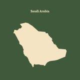 Контурная карта Саудовской Аравии иллюстрация Стоковое Изображение RF