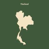 Контурная карта Таиланда иллюстрация Стоковое Фото