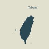 Контурная карта Тайваня иллюстрация Стоковое Изображение RF