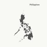 Контурная карта Филиппин иллюстрация Стоковые Фотографии RF
