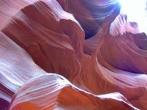 контуры каньона антилопы Стоковое фото RF