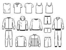 Контуры мужского стиля спорт Стоковые Изображения RF