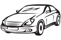 контур автомобиля Стоковое фото RF