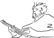 Контур гитариста бесплатная иллюстрация