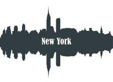 Контур города Нью-Йорка иллюстрация вектора