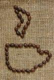 Контур кофейной чашки Стоковое Фото