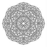 Контур, мандала религиозный элемент дизайна Тату Стоковые Фото