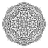 Контур, мандала религиозный элемент дизайна Стоковое фото RF