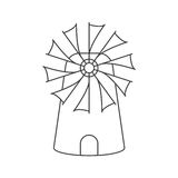 Контур мельницы Стоковые Изображения RF