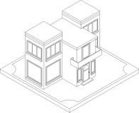 Контур равновеликого дома Стоковые Фотографии RF