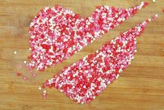Контур сердца с диапазоном малых сердец Стоковые Фото