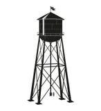 Контур старой водонапорной башни Стоковые Изображения RF