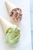 2 конуса гайк-приправленного мороженого Стоковые Изображения RF