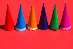 Конусы сахара на красной предпосылке Стоковое Изображение RF