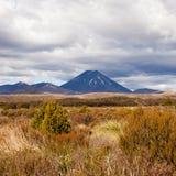 Активный вулкан Маунт Ngauruhoe в Tongariro NP NZ Стоковые Фотографии RF