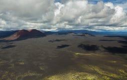 Конус гари извержения 1975 борозды Tolbachik северного прорыва большого Стоковое фото RF