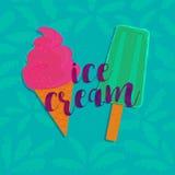 Конус и эскимос мороженого Стоковые Изображения