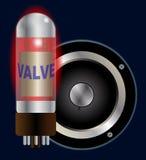 Конус клапана и диктора усилителя Стоковое фото RF