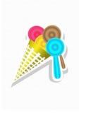 Конус мороженного цветастый Стоковое Фото