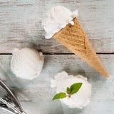 Конус мороженого югурта Стоковое Фото