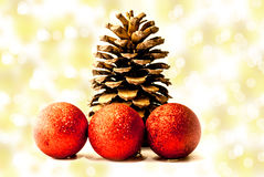 конус холода рождества предпосылки голубой Стоковая Фотография