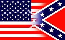 Конфедеративные Штаты Америки сигнализируют Исторический национальный флаг Конфедеративных Штатов Америки Как Confederate сражени бесплатная иллюстрация