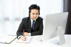Конференция бизнесмена Tele Стоковое фото RF