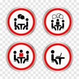 Конференция значка Люди сидя вокруг говорить таблицы бесплатная иллюстрация