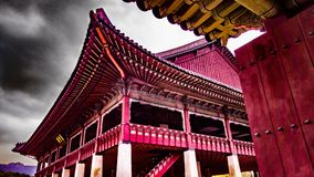 Конференц-зал дворца Kyeongbokgung стоковое изображение rf
