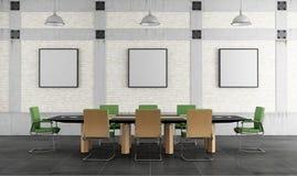 Конференц-зал в просторной квартире иллюстрация штока