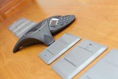 Конференц-зал - селективный фокус на телефоне кнопочной панели Стоковое Изображение