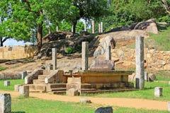 Конференц-зал Anuradhapura Mihintale, всемирное наследие ЮНЕСКО Шри-Ланки Стоковая Фотография