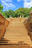 Конференц-зал Anuradhapura Mihintale, всемирное наследие ЮНЕСКО Шри-Ланки Стоковые Изображения RF