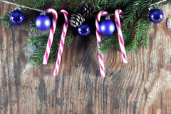 Конфета вставляет орнамент шарика рождества Стоковые Фото