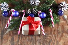 Конфета вставляет орнамент шарика рождества Стоковое Фото