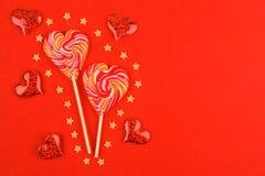 Конфета 2 в форме сердца стоковое фото