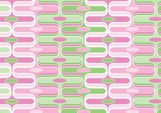 конфета изгибает зеленое розовое ретро Стоковое фото RF