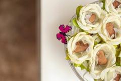 Конфета и бабочка свадьбы Стоковые Фотографии RF