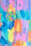Конфета леденца на палочке Стоковые Фотографии RF