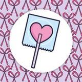 Конфета любов сердца сладкая иллюстрация штока