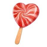 Конфета мороженого сердца форменная Стоковые Изображения