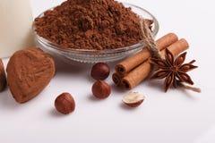 Конфета на белой предпосылке, состав шоколада в форме сердц шоколада Стоковая Фотография RF