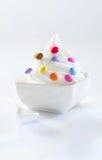 конфета покрыла нежность подачи мороженого Стоковая Фотография