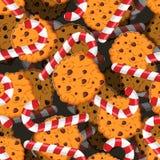 Конфета рождества пипермента и картина печений Сладостный праздничный ба Стоковая Фотография