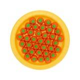 Конфета тыквы хеллоуина на желтой предпосылке белизны плиты Стоковое фото RF