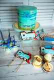 Конфета установленная для вечеринки по случаю дня рождения Стоковое Фото
